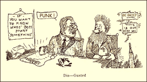 Constitution of Oklahoma - Cartoonist's rendering of Theodore Roosevelt's initial reaction to the Oklahoma Constitution.