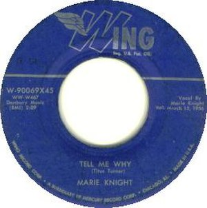Tell Me Why (1956 song) - Image: Tell Me Why 45 Knight