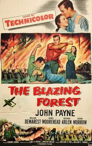 The Blazing Forest - Theatrical release poster