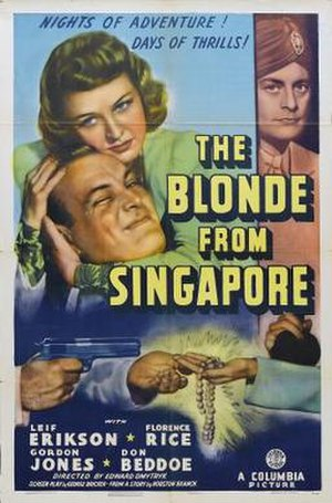 The Blonde from Singapore - Film poster