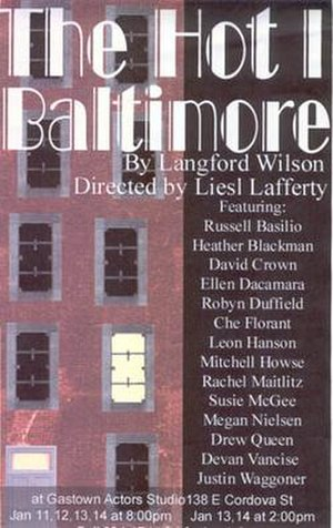 The Hot l Baltimore - Window card for the Gastown Actor's Studio 2001 production