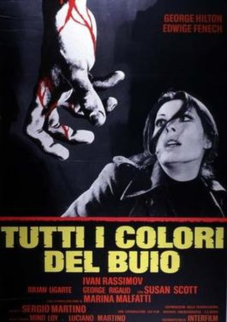 All the Colors of the Dark - Italian film poster