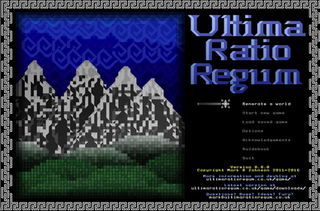 <i>Ultima Ratio Regum</i> (video game) free historical roguelike computer game
