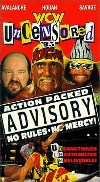 WCW Uncensored - VHS cover featuring Avalanche, Hulk Hogan, Randy Savage