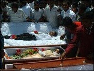 Vankalai massacre - Funeral of the massacre victims