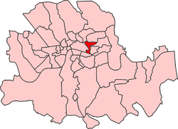 Whitechapel District within the Metropolis