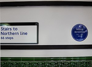 Willie Rushton - Willie Rushton's blue plaque