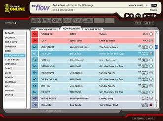 XM Satellite Radio - XM Radio's online player prior to their merge with Sirius