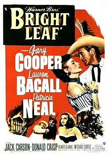 <i>Bright Leaf</i> 1950 film by Michael Curtiz