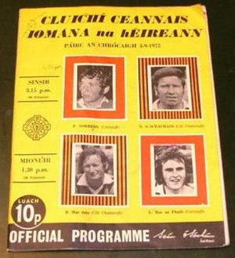 1972 All-Ireland Senior Hurling Championship Final - Image: 1972 All Ireland Senior Hurling Championship Final