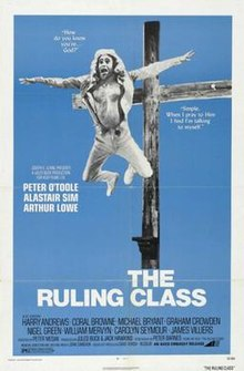 1972 Peter Medak film The Ruling Class distribution poster U.S.jpg