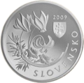 2009 Slovakia 20 Euro Protection of Nature and Landscape - National Park Velka Fatra front.png