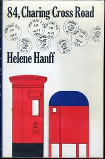 <i>84, Charing Cross Road</i> 1970 book by Helene Hanff, later made into a stage play, television play and film, about the twenty-year correspondence between her and Frank Doel, chief buyer of Marks & Co, antiquarian booksellers located at the eponymous address in London, England