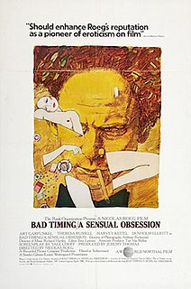 <i>Bad Timing</i> 1980 film directed by Nicolas Roeg