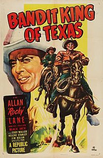 <i>Bandit King of Texas</i> 1950 film by Fred C. Brannon