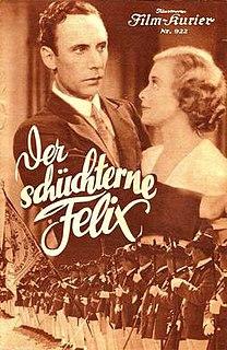 <i>Bashful Felix</i> 1934 film by Carl Boese