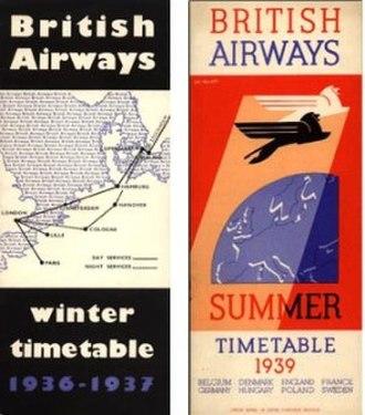 British Airways Ltd - Image: British Airways Ltd Timetables