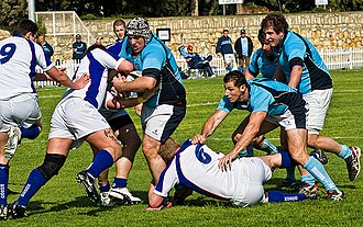 Rugby union in Cyprus - Slovakia playing Cyprus