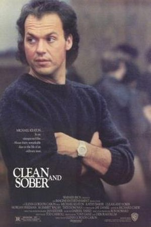 Clean and Sober - Promotional movie poster for the film