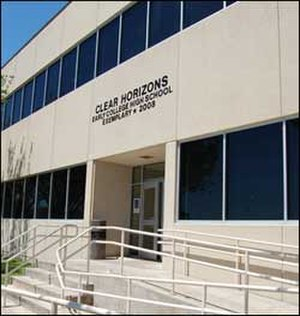 Clear Horizons Early College High School - Image: Clear Horizons Early College High School Façade