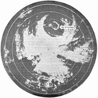 Cyclone Althea - Radar image of Althea just before landfall, showing concentric eyewalls