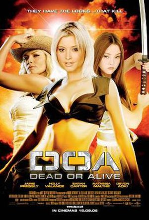 DOA: Dead or Alive - Theatrical release poster, showing Christie, Tina and Kasumi