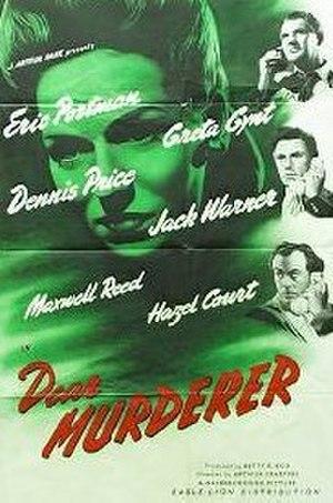 Dear Murderer - Theatrical release poster