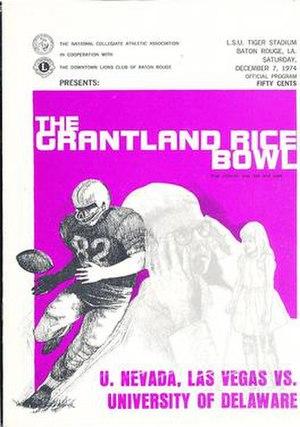 1974 Grantland Rice Bowl - Program cover for 1974 game