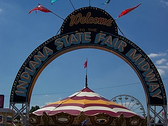 Indiana State Fair - Entrance to the Midway at the Indiana State Fair