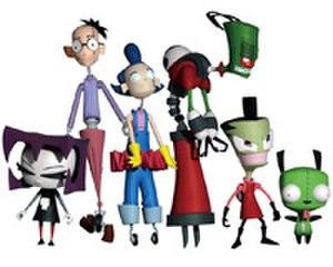 Invader Zim - A set of Invader Zim toys produced by Palisades Toys