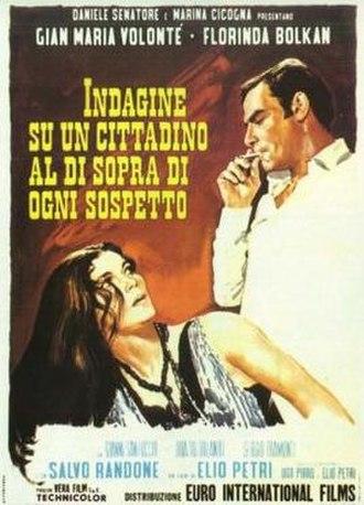 Investigation of a Citizen Above Suspicion - Italian film poster