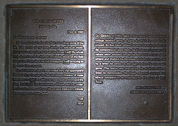 Plaque at the Jack Trice memorial