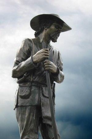 Jim Baker (frontiersman) - Jim Baker, sculpture by Steve Boyce