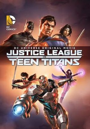 Justice League vs. Teen Titans - Promotional poster