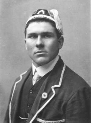 Ken Gavin - Ken Gavin in team uniform and wearing test cap
