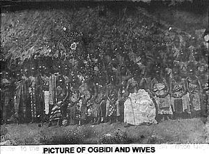 Esan people - Prince Okojie and his entourage.