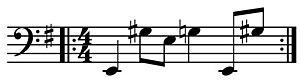Like Herod - Image: Like Herod Bass Line