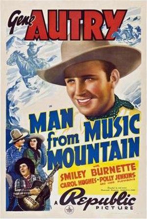 Man from Music Mountain - Theatrical release poster