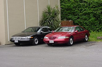Lincoln Mark VIII - A 1994 Lincoln Mark VIII (black) and a 1997 Lincoln Mark VIII LSC (Toreador Red): These represent the first and second generations of the FN10 platform, respectively.