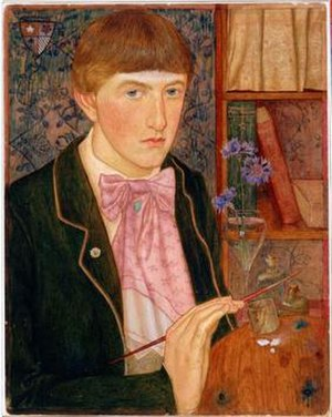Maxwell Armfield - Self-Portrait (1901), Tempera on sketching board