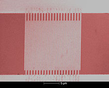 Scanning electron micrograph of a superconducting nanowire single-photon detector.