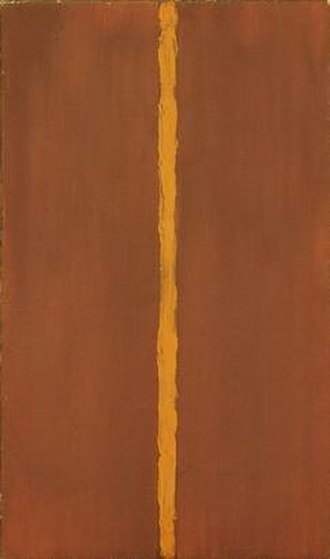 Abstract expressionism - Barnett Newman, Onement 1, 1948. During the 1940s Barnett Newman wrote several articles about the new American painting.