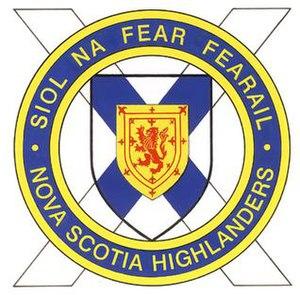 The Nova Scotia Highlanders (North)