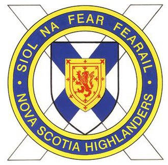 The Nova Scotia Highlanders (North) - Image: Nova Scotia Highlanders Logo