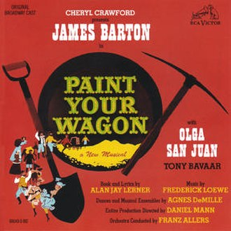 Paint Your Wagon (musical) - Original Cast Recording Cover