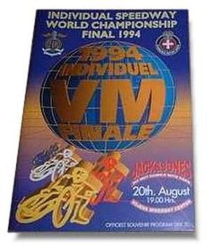 1994 Individual Speedway World Championship - The 1994 Speedway World Final programme.