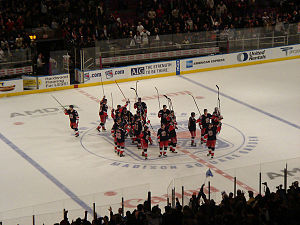 History of the New York Rangers - Rangers saluting the crowd at MSG