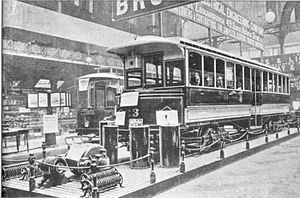Swansea Improvements and Tramway Company - Single deck bogie tram No.23, Built by Brush and exhibited at the Tramway Exhibition of 1900. These trams were used mostly on the longer Morriston route