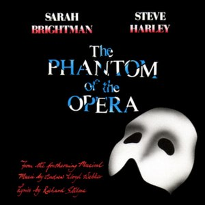 The Phantom of the Opera (Andrew Lloyd Webber song) - Image: Sarah Brightman Steve Harley The Phantom of the Opera 1986 Single