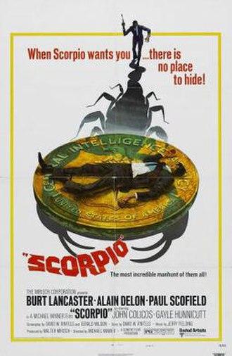 Scorpio (film) - Original film poster by Robert McGinnis